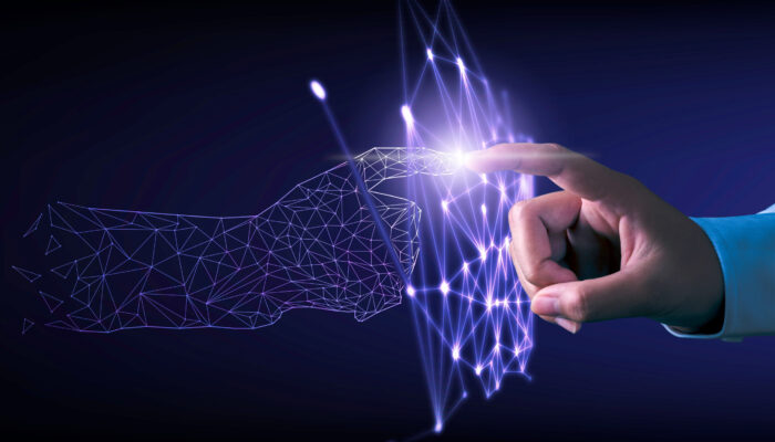 Hand,Touching,Modern,Interface,Digital,Transformation,Concept.,Connection,Next,Generation